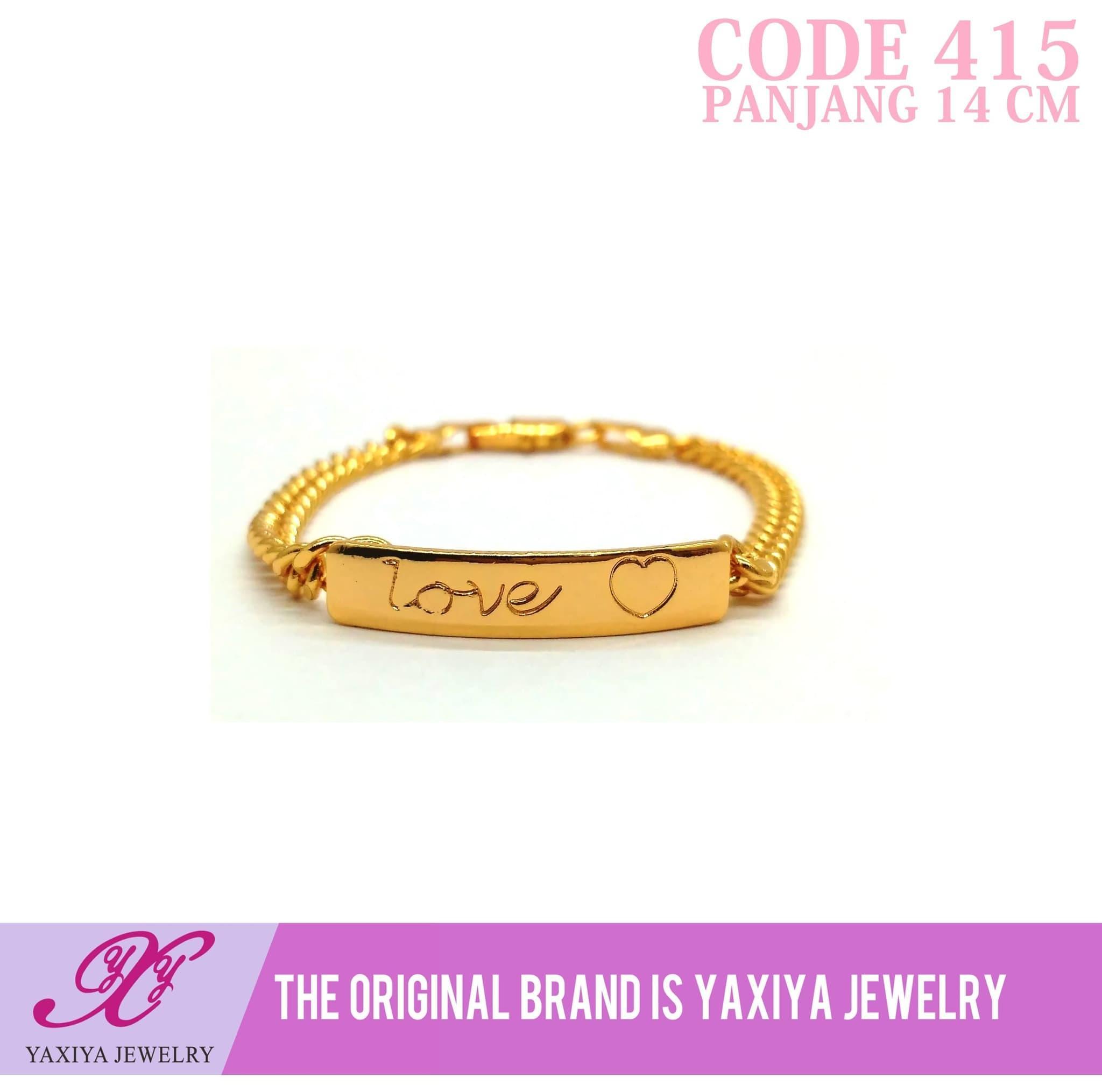 Gelang rantai anak Perhiasan imitasi Gold 18k Yaxiya Jewelry 415