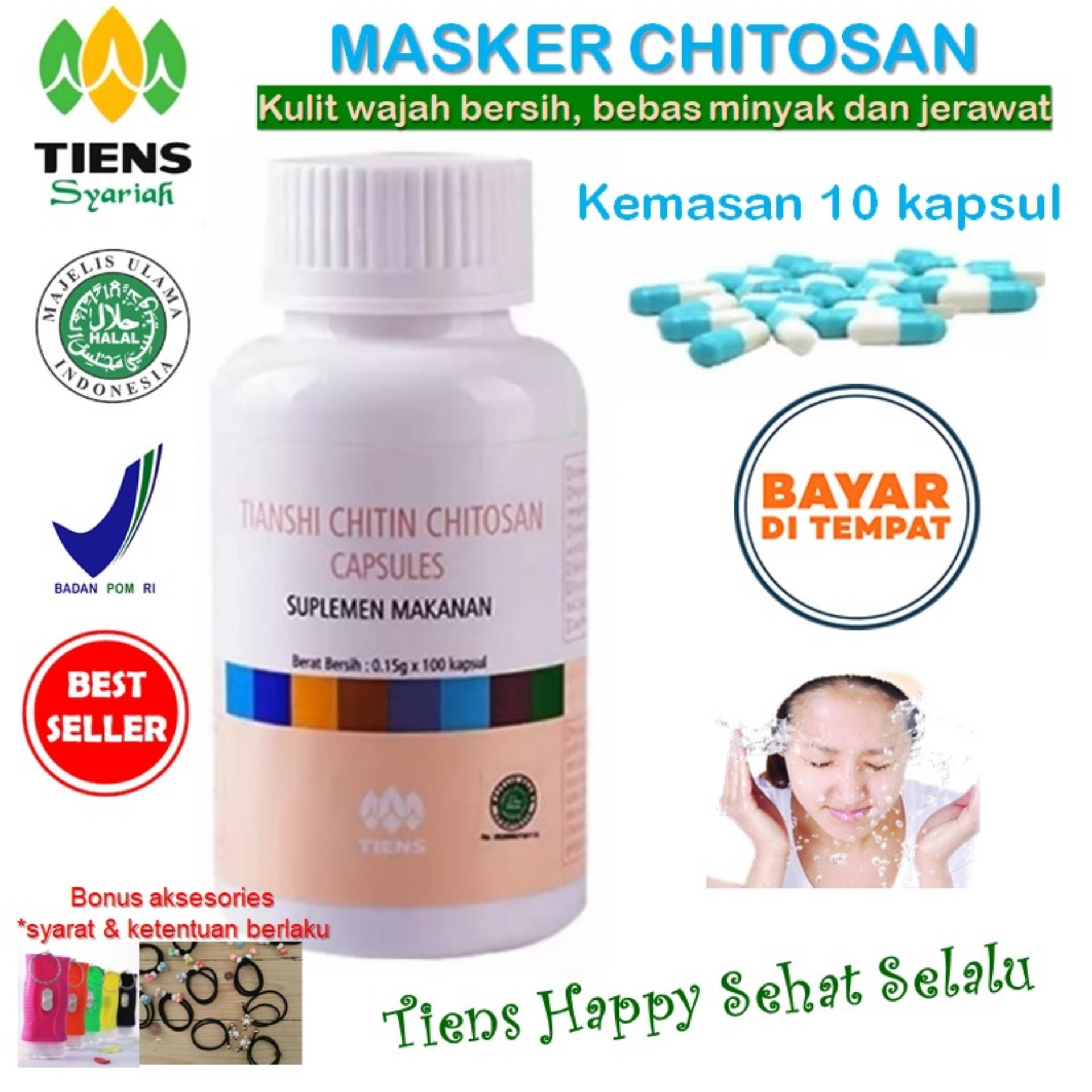 Tiens Masker Chitosan Herbal Anti Jerawat Paket 10 Kapsul Promo By Tiens Happy Sehat Selalu Original