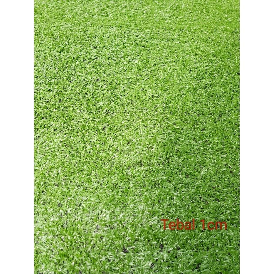 Rumput Sintetis - Super Grass - Hijau - Tebal 1 Cm