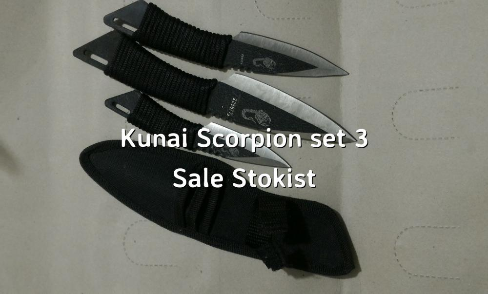 3 Pisau lempar kunai scorpion ninja scorpio dagger piyau piau shuriken komando GTA PES 2016 jaket celana jeans hoodie uno stacko pc di lapak SALE STOKIST sale_stokist