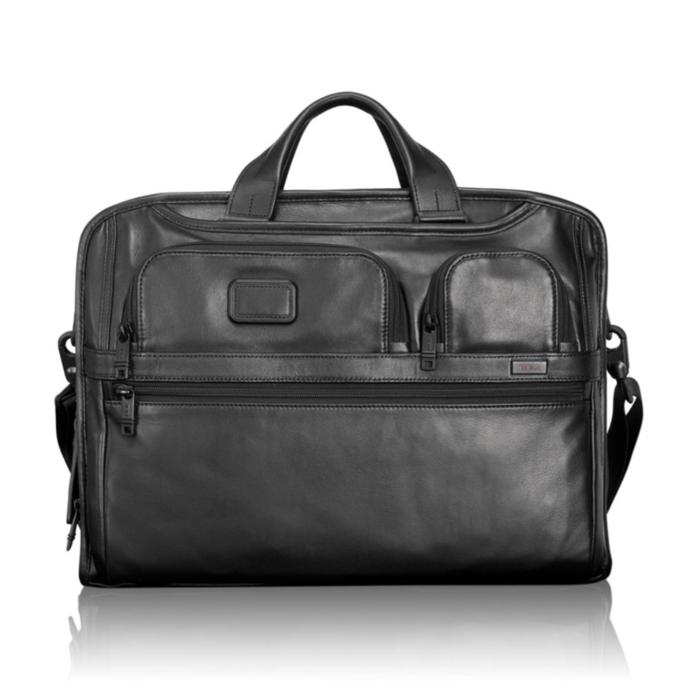 Tas TUMI Alpha 2 Compact Large Screen Laptop Leather Brief