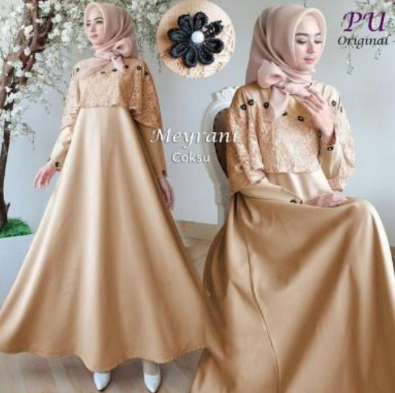 Fitur Moslemwear Gamis Pesta Brukat Glitter Premium Original Real