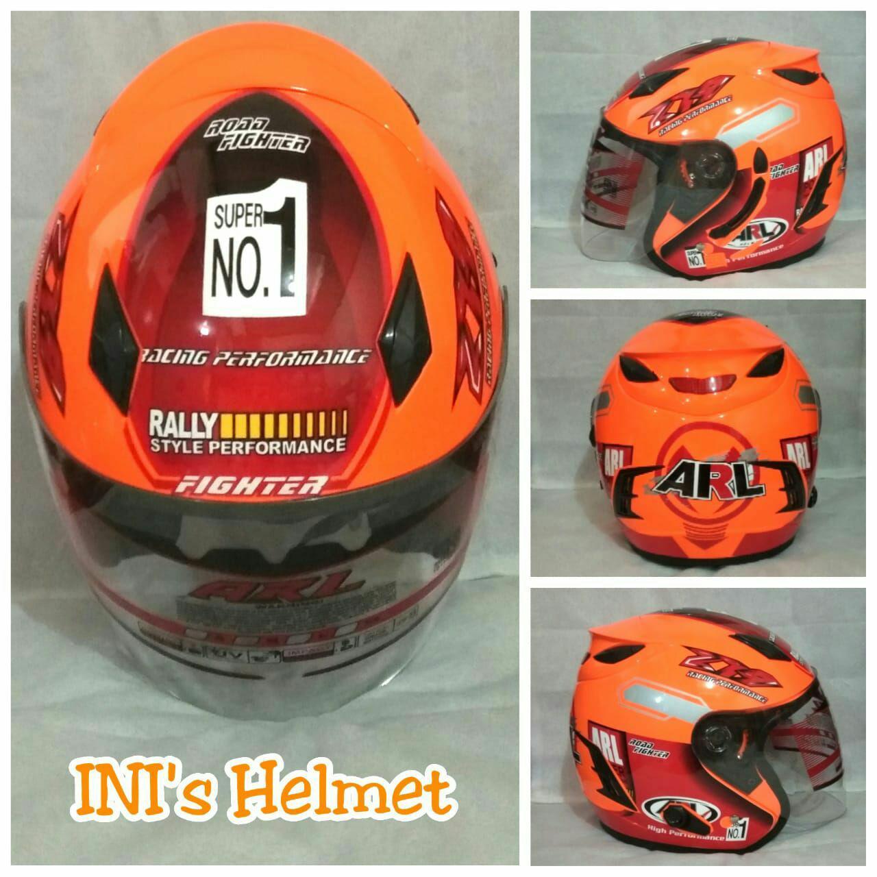 Detail Gambar Helm SNI Half face double visor anti silau dan ada slot anti maling Terbaru