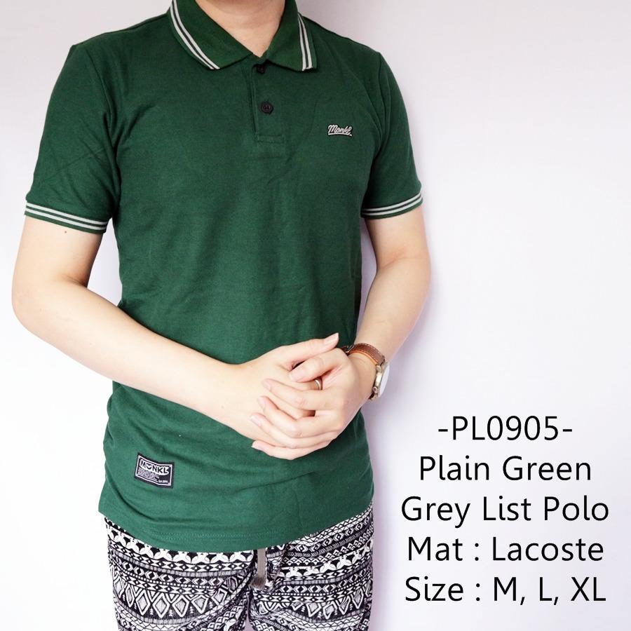 Idf Kaos Polo Pria Casual Keren Plain Green Grey List Polo 905 Dki Jakarta