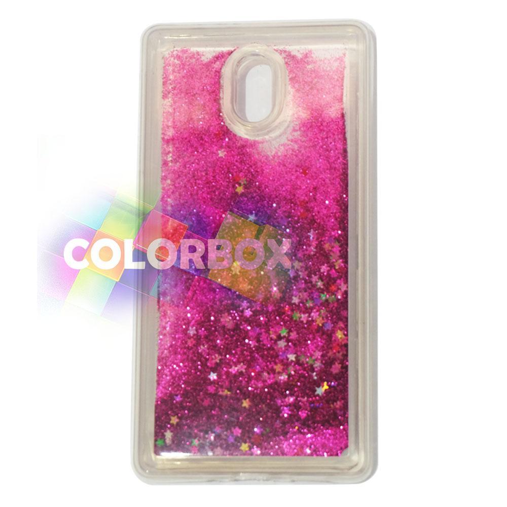 MR softshell Water Glamour Nokia 3 / Soft Case Glitter Nokia 3 / jelly Casing Nokia 3 / Silikon Case Hp / Case Water Glitter - Pink Tua