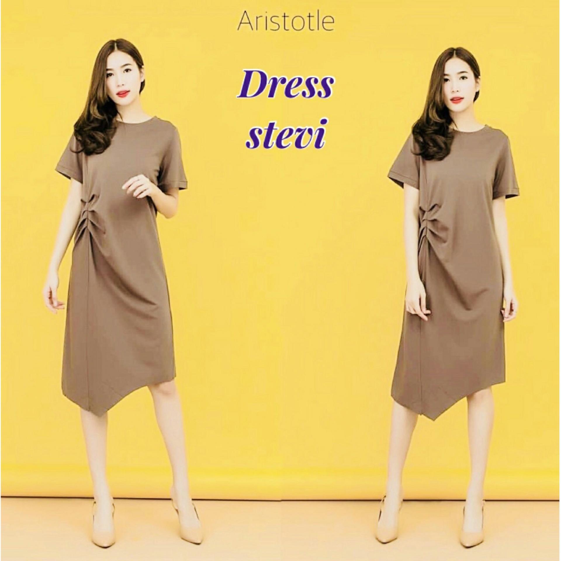 AmorShop Mini Dress Stevi /Pakaian Wanita /Dress 016