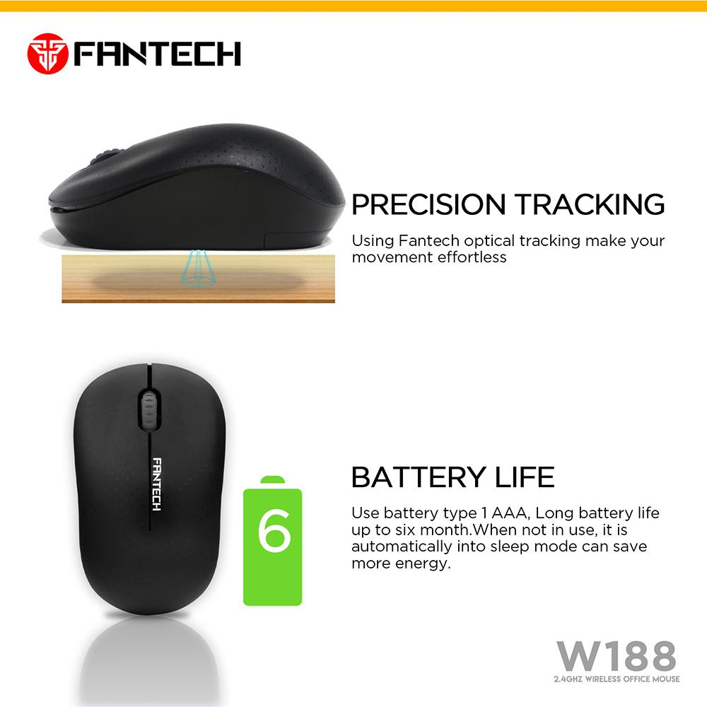 Fantech Mouse Office T543 Pink Referensi Daftar Harga Terbaru Wireless W556 Mousepad Mp25 W188 5