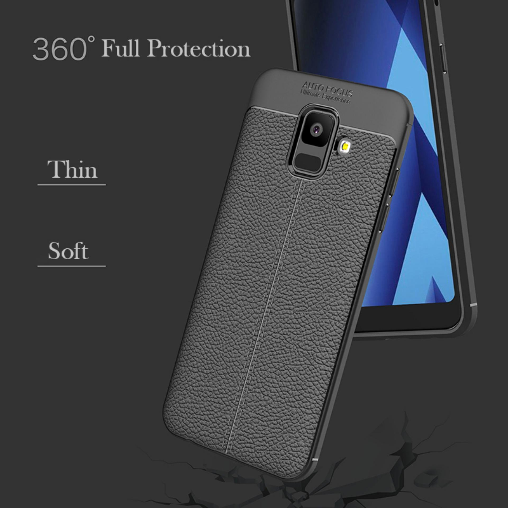 ... Accessories Hp Premium Ultimate Shockproof Leather Case For Samsung Galaxy A6 2018 - Black - 4