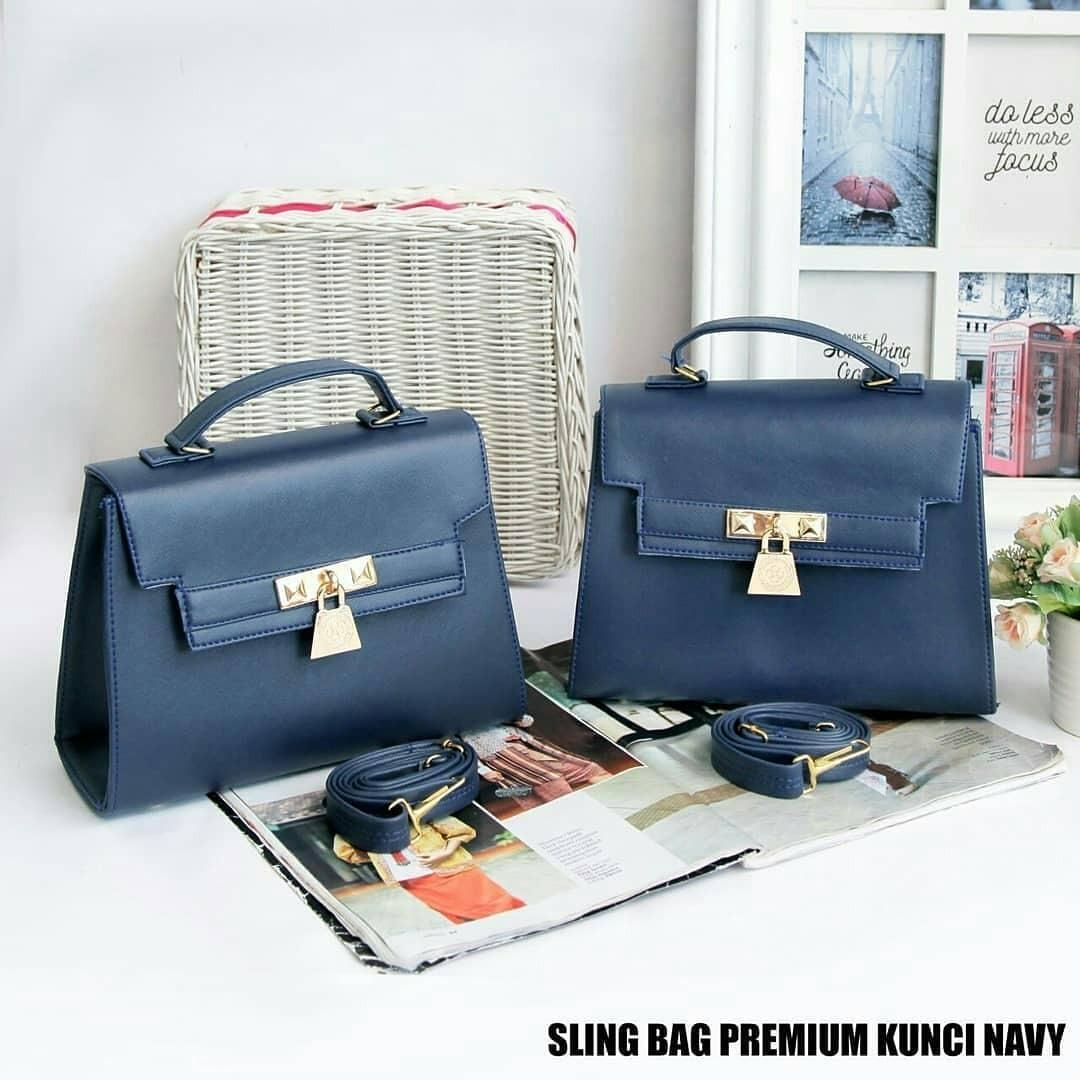 Tas Hermes Jelly Bag Super Premium - Navy