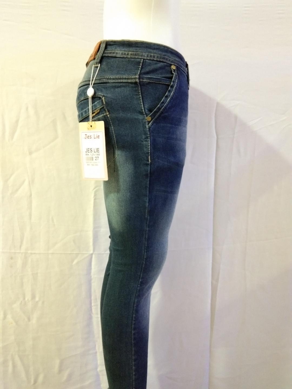 Detail Gambar Nusantara Celana Wanita Skinny Celana Jeans Wanita Kantong Bobok Upgrate Ritsleting Kuat Berbahan Denim Ripped Terbaru
