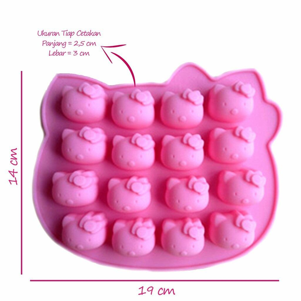 CETAKAN SILIKON KEPALA HELLO KITTY 16 CAV - HELLO KITTY SILICON MOLD - HELLO KITTY SILICONE MOULD