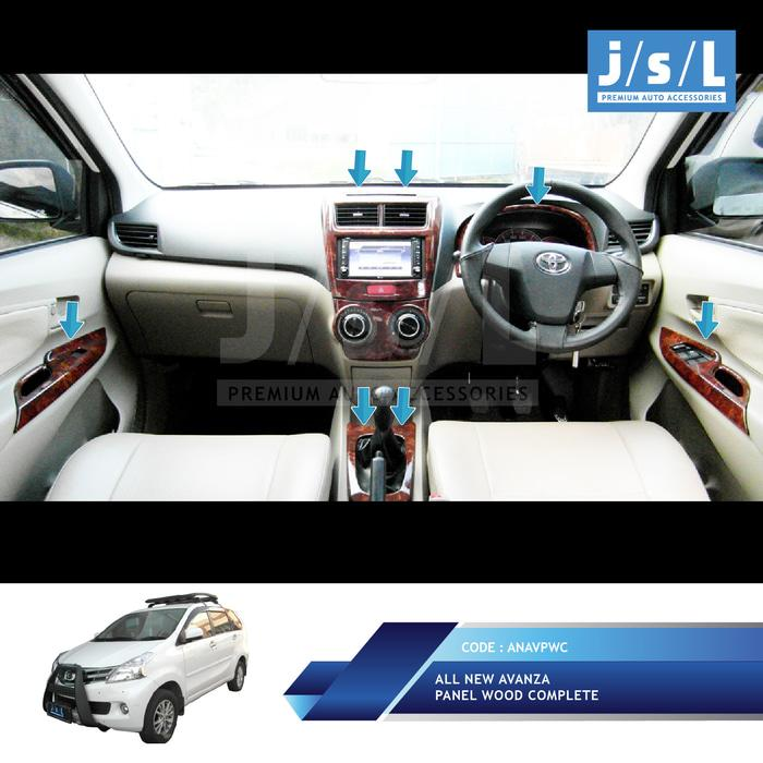 All New Avanza/Xenia Panel Kayu Interior / Wood Panel Complete