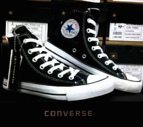 harga Sepatu Pria / Sepatu Sekolah / Sepatu Murah / Sepatu Converse All Star High hitam + Box Lazada.co.id