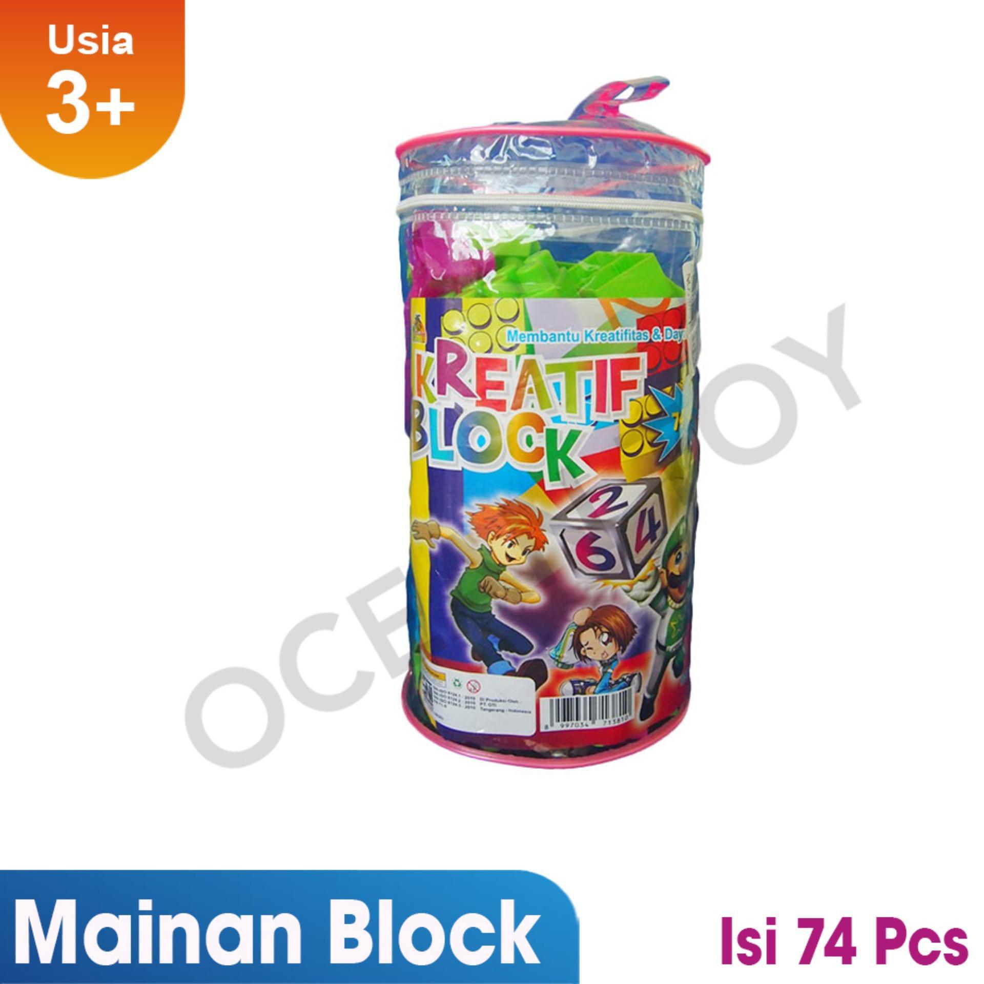 Harga Ocean Toy Creative Block Isi 74 Pcs Mainan Edukasi Anak Oct9201 Multicolor Terkini Harga Terbaik 2018