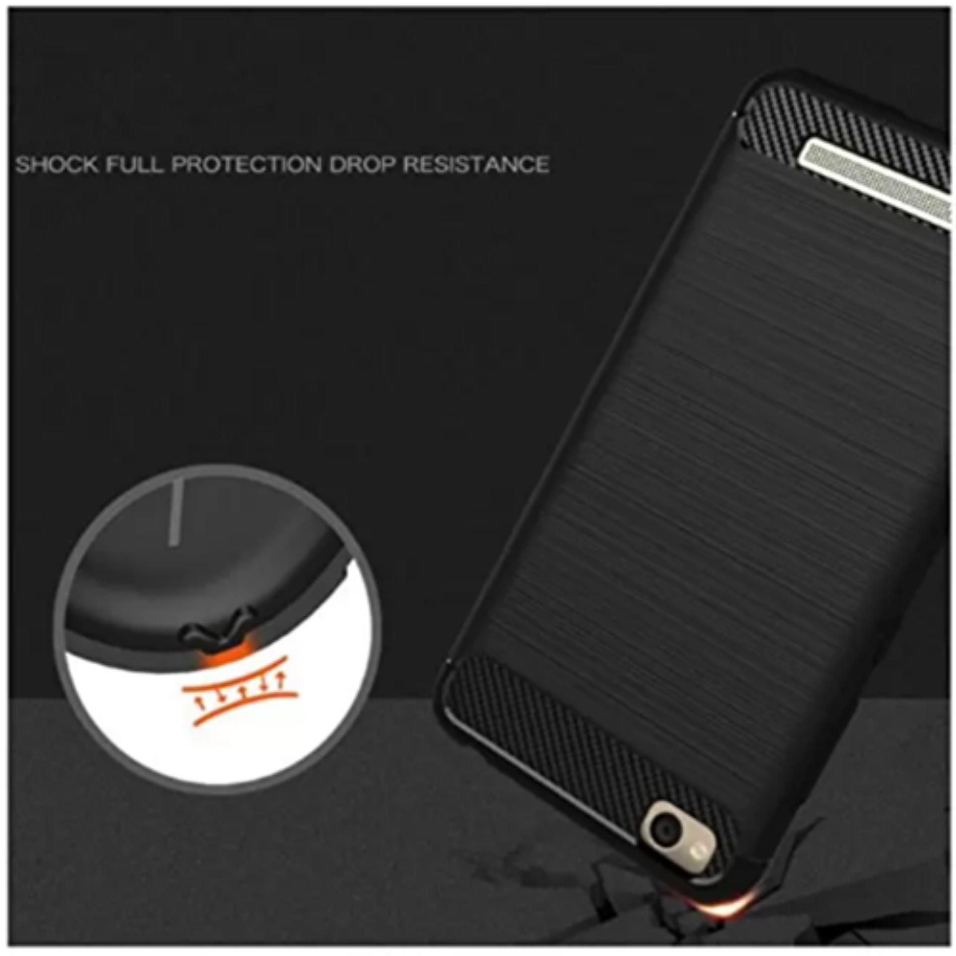 Case for Xiaomi Redmi 4A IPAKY Carbon Fiber Softcase Hybrid - Free Tempered Glass - 2 ...