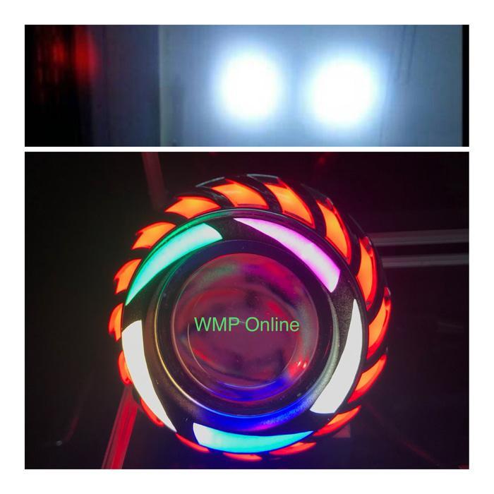 Lampu Projie U27R Rainbow 2 Sinar 3.5 Inch Angel Nanas Runing WMP-0950
