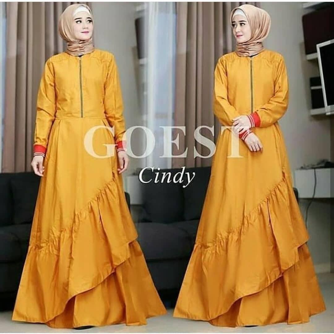 Baju Cindy Dress Balotely Panjang Balotelly Hijab Casual Pakaian Muslim Wanita Muslim Modern Terbaru Termurah 2018