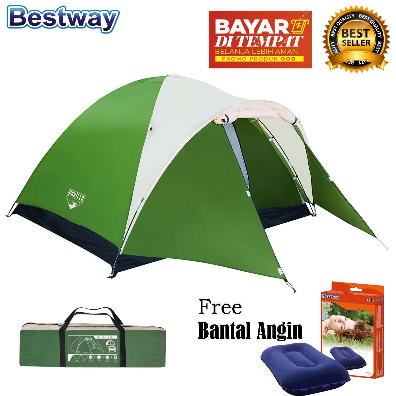 Bestway Tenda Camping 4 Orang Montana Pavillo X4 Tent + Bantal