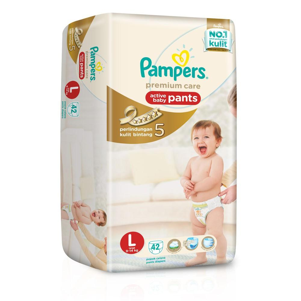 Pampers Popok Premium Care Active Baby Pants - L 42