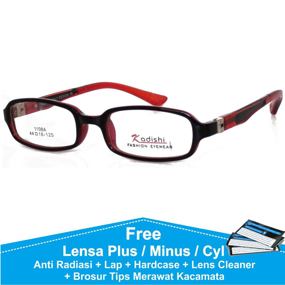 Frame Kacamata Baca   Plus   Minus Anti Radiasi Komputer FKIDS 1108A Hitam  Merah 55e739e6e1