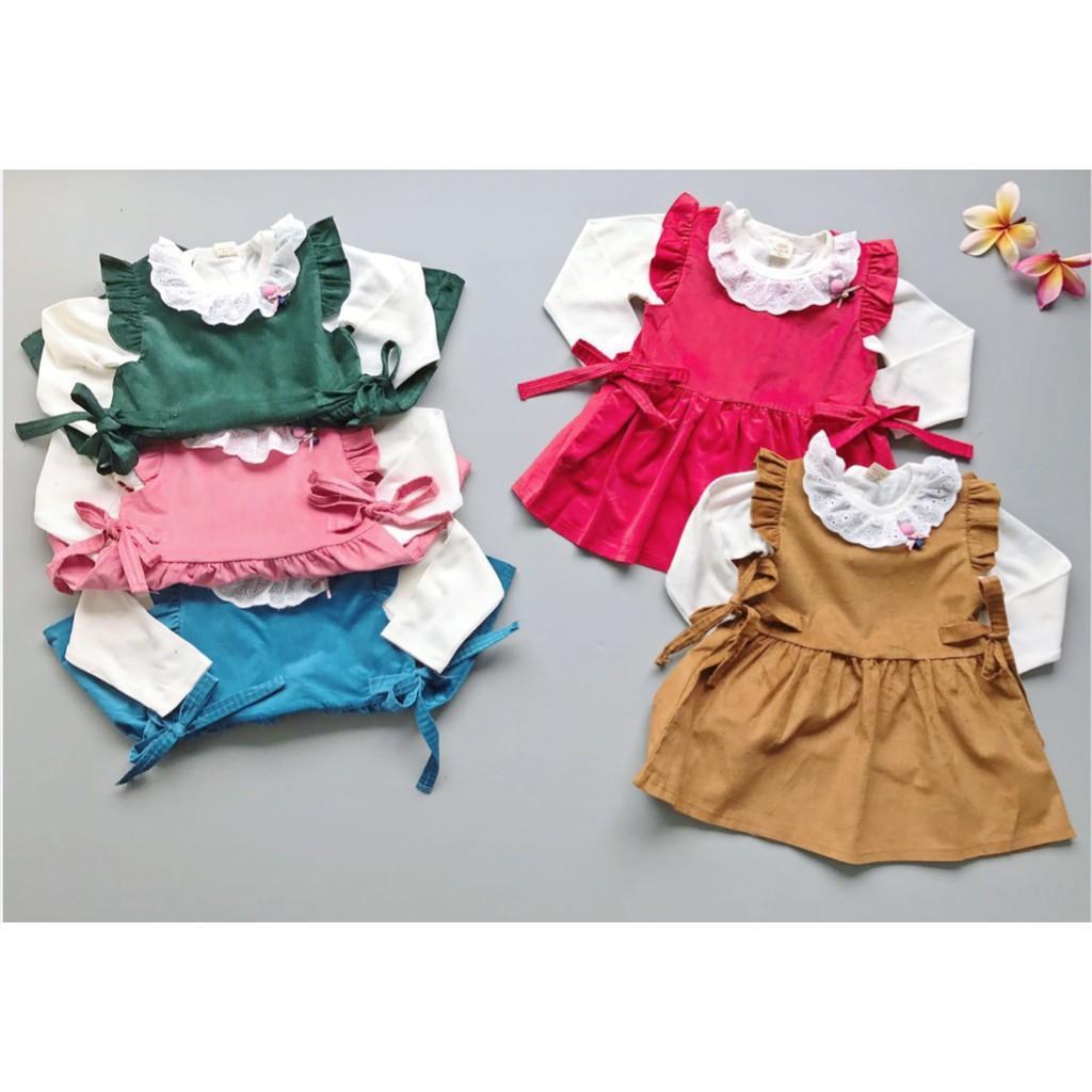 Babyfit VALENTINE Dress Overall Baju Setelan Imut Bayi Anak Import Katun Halus Beludru Velvet Lembut