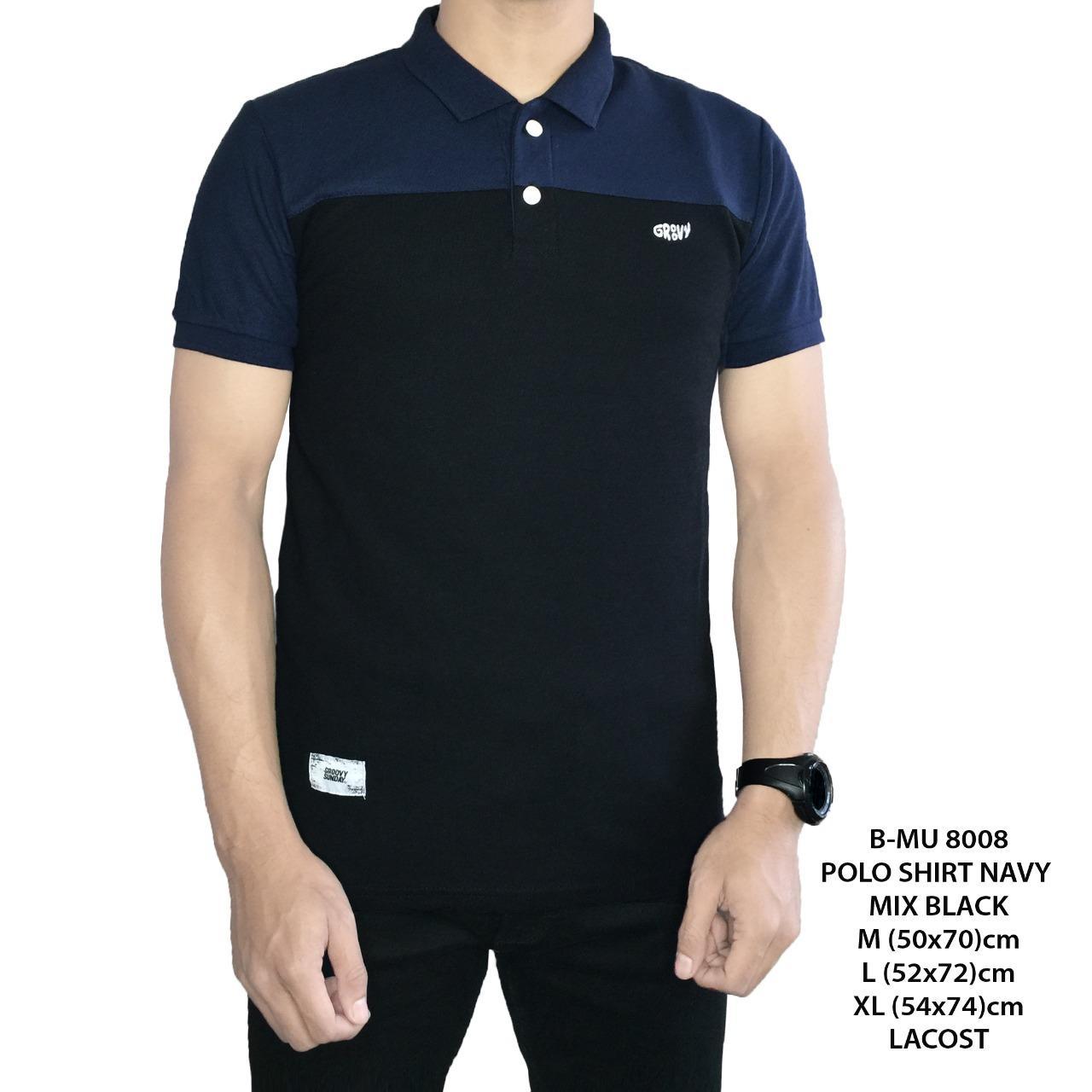 Kelebihan Bajuku Murah Polo Shirt Floral Printing Kaos Pria Tangan Lengan Pendek Cabanna Black Navy Mix Best Seller
