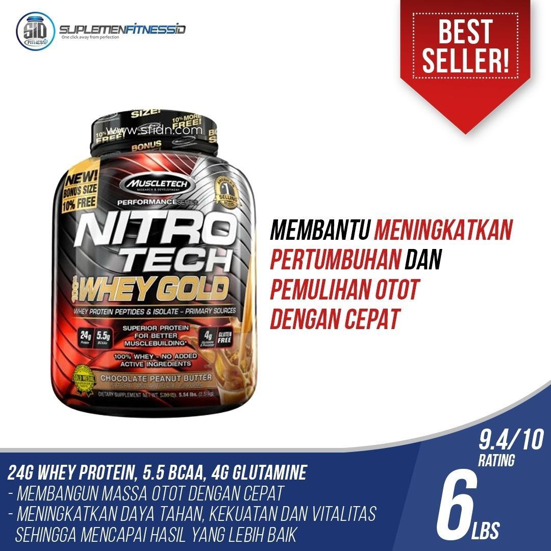 Spesifikasi Muscletech Nitrotech Whey Gold 6 Lbs Dan Harganya
