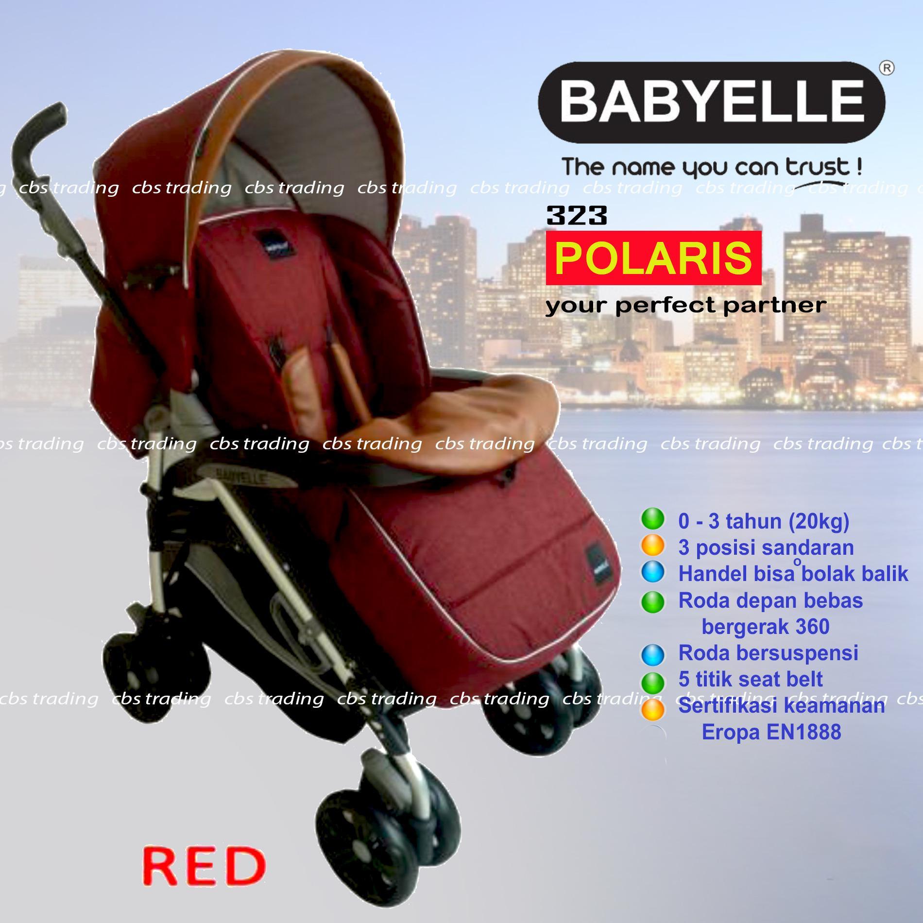 Diskon Babyelle New Polaris Stroller Single S 323 Baby Elle Polaris Baby Stroller Kereta Dorong Bayi Merah Akhir Tahun