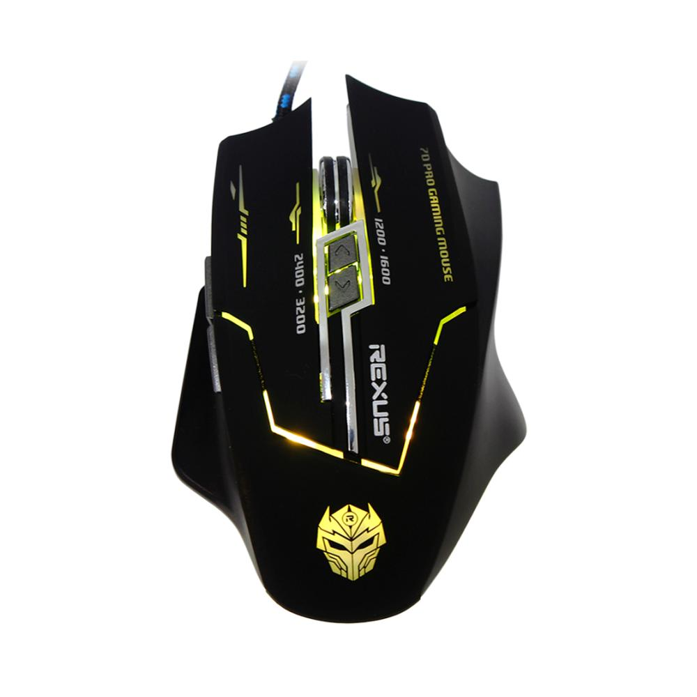 Diskon Mouse Gaming Rexus X3 Xierra 7D Multi Led Color Akhir Tahun