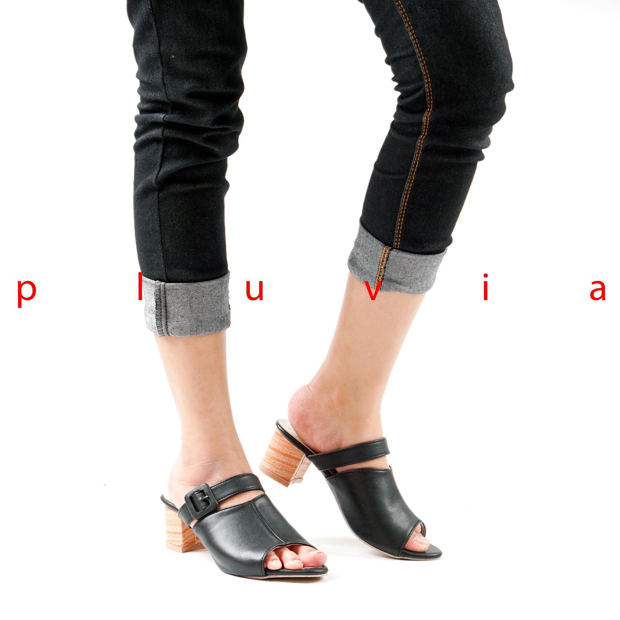 Sepatu High Heels Wanita Hak Tahu Hitam Daftar Harga Terkini Dan Fs62 Coklat Detail Gambar Pluvia Sandal Pesta Ck04 Terbaru