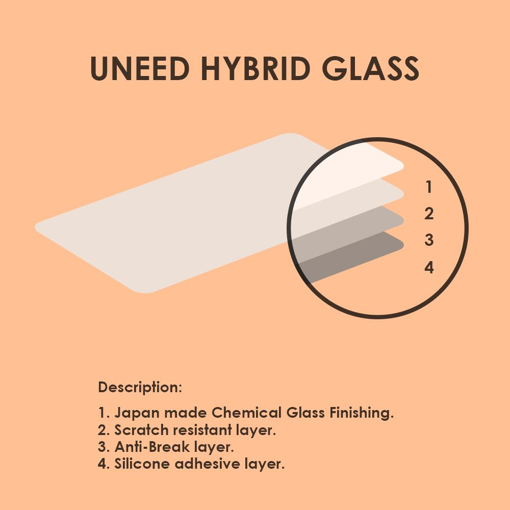 ... Uneed Hybrid Glass 3D Screen Protector for Apple iPhone 6 / iPhone 6S - Hitam ...