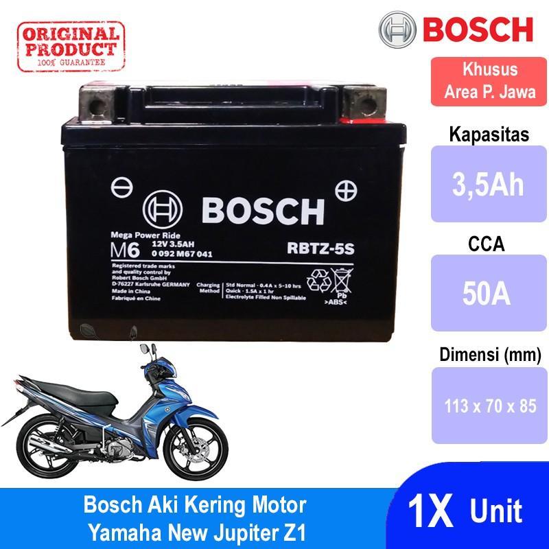 Bosch Aki Kering Motor Yamaha New Jupiter Z1 Maintenance Free AGM RBTZ-5S - 0092M67041