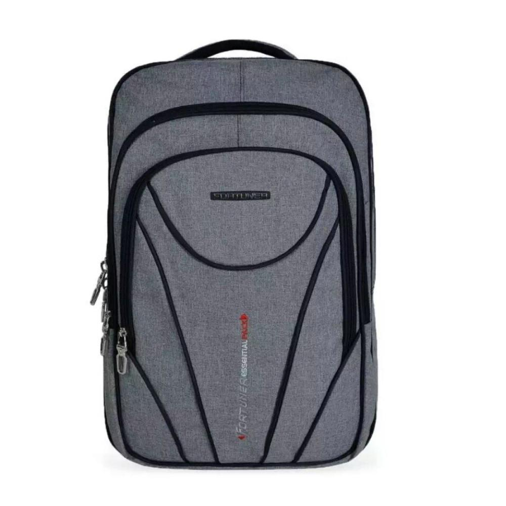 ... Fortuner Tas Ransel Pria Backpack 18 Inchi 4014-18 ZV Polyester Nylon Original - Grey ...