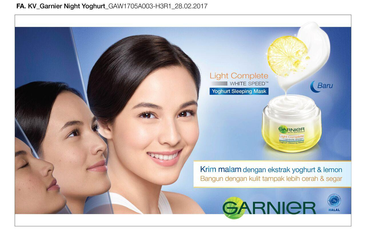 Garnier Light Complete White Speed Yoghurt Sleeping Mas Krim Paket Spesifikasi Dari Malam 50ml