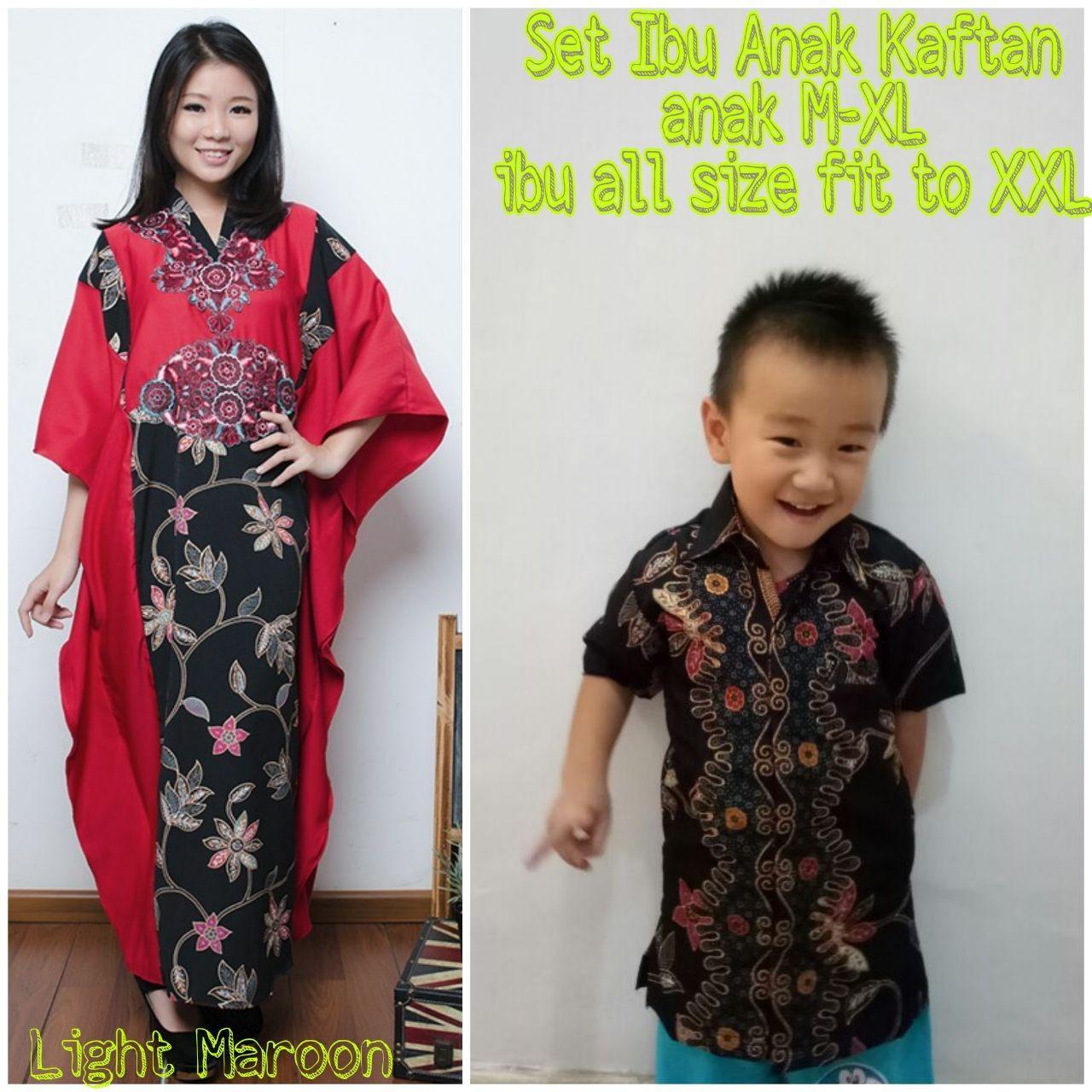 Miracle Couple Dress Maxi Aliffa Gamis Kaftan Jumbo Dan Kemeja Batik Anak 454fc84b45