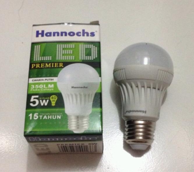 Lampu LED Hannochs 5 watt / 5w 5watt putih / setara philips 5w led