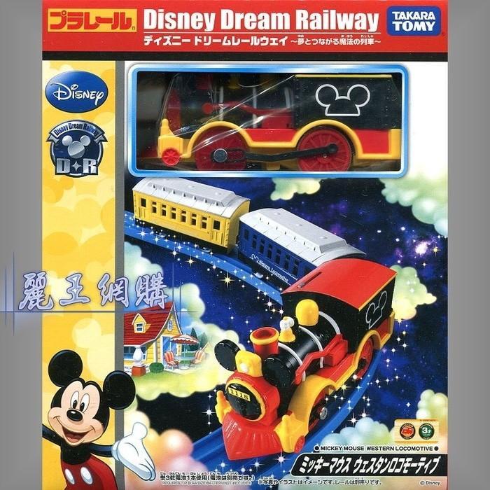 Tomica Mickey Mouse Western Locomotif Plarail Disney Dream Railway