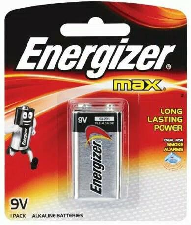Baterai Energizer Alkaline 9V Batere Batre Battery 9 V volt Max