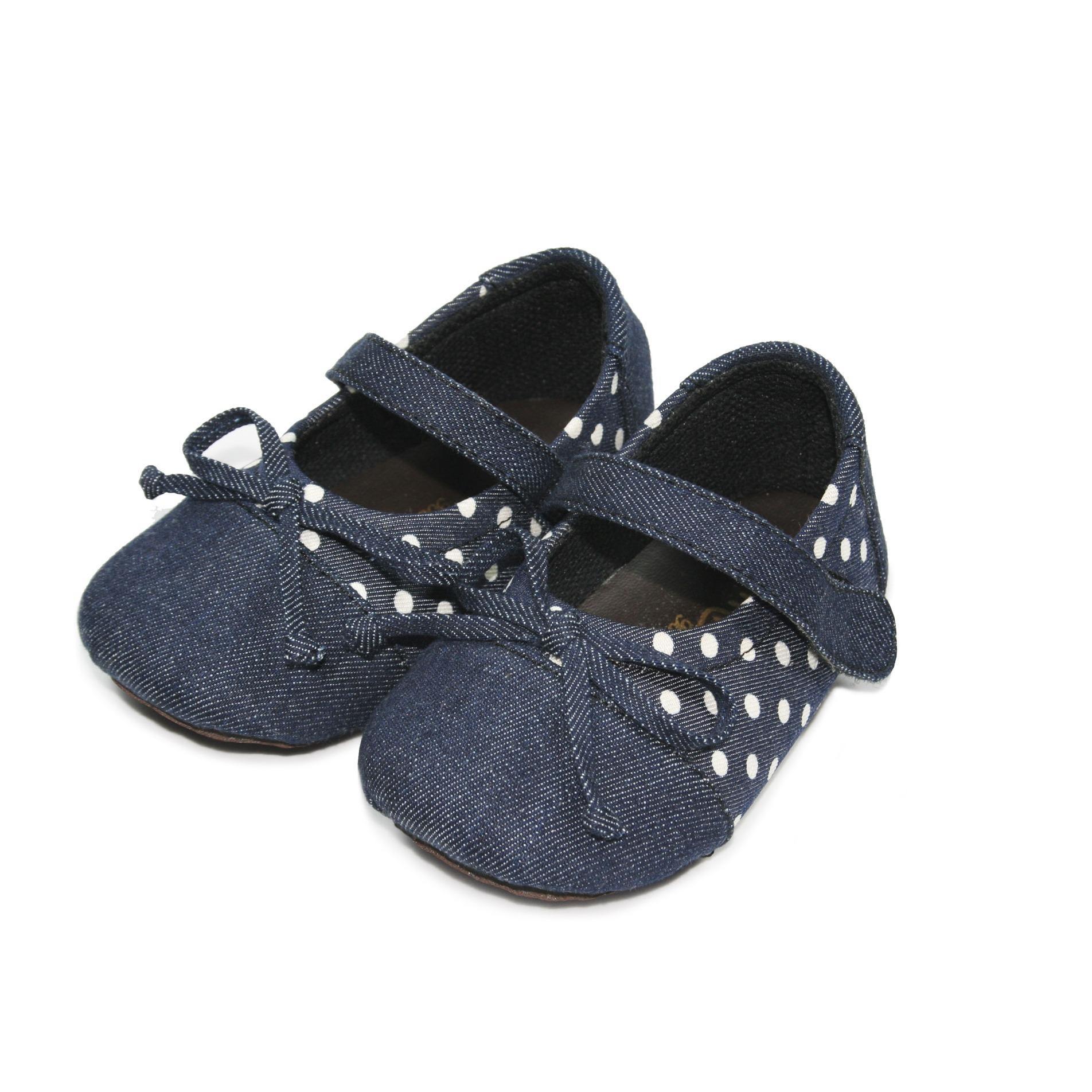 Promo Tamagoo Sepatu Bayi Perempuan Baby Shoes Prewalker Keira Denim Tamagoo