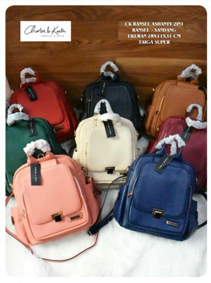 Tas Backpack Branded Wanita Cantik Berkelas  CK RANSEL 3 IN 1 /TAS CK/TAS CHARLES AND KEITH