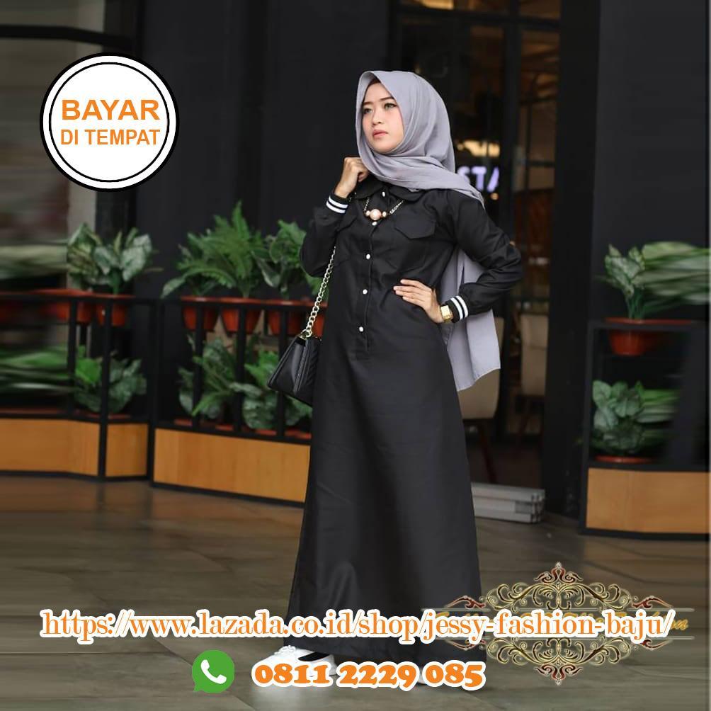 Baju Muslim Original Gamis Riby Dress Toyobo Gamis Baju Modis Trendy Gaun  Wanita Modern Terbaru 2018 a7a056e117