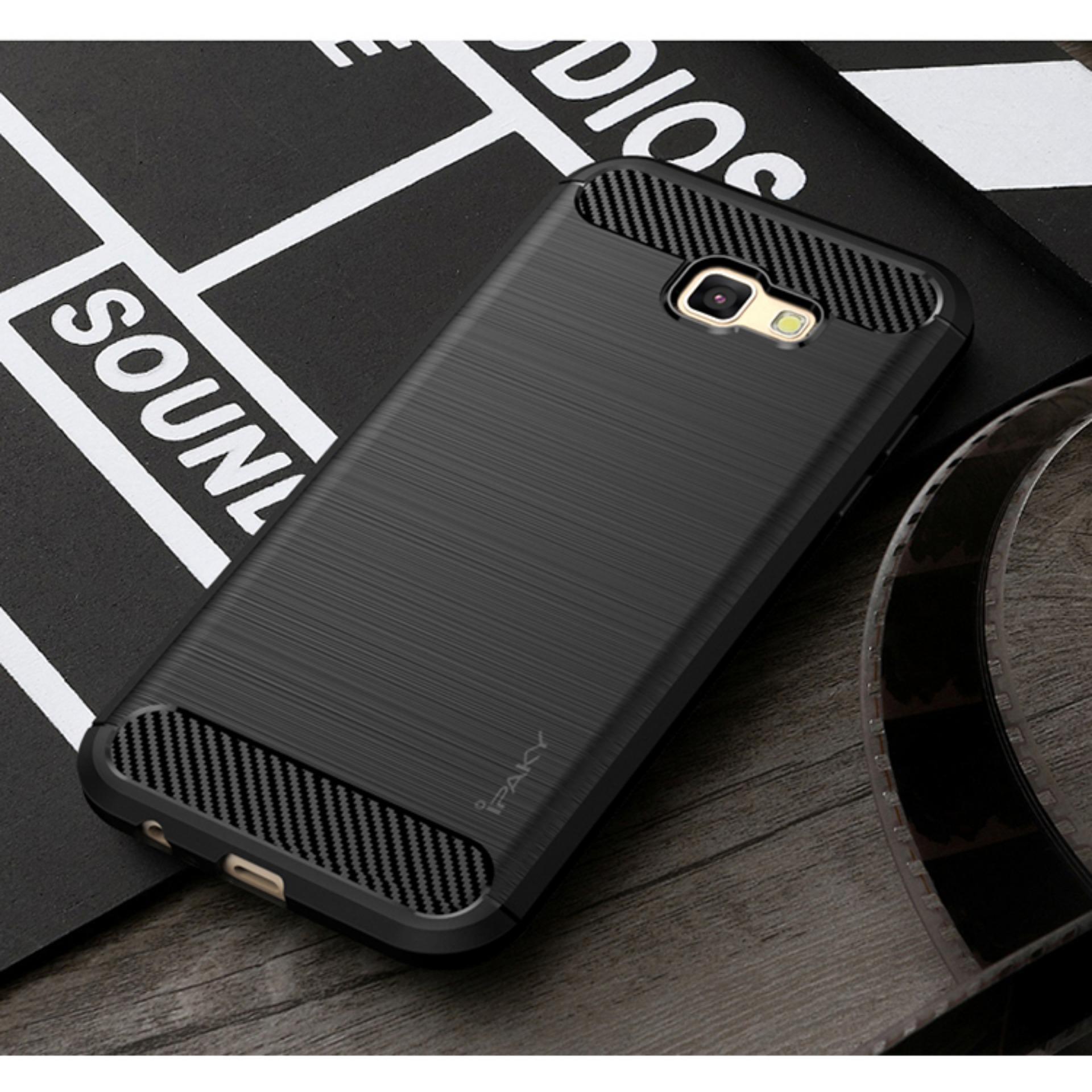 Cek Harga Baru Original Lazada Case Ipaky Shockproof Carbon Hybrid Peonia Samsung J5 Pro 2017 J530 Black Hitam For Galaxy J7 J730