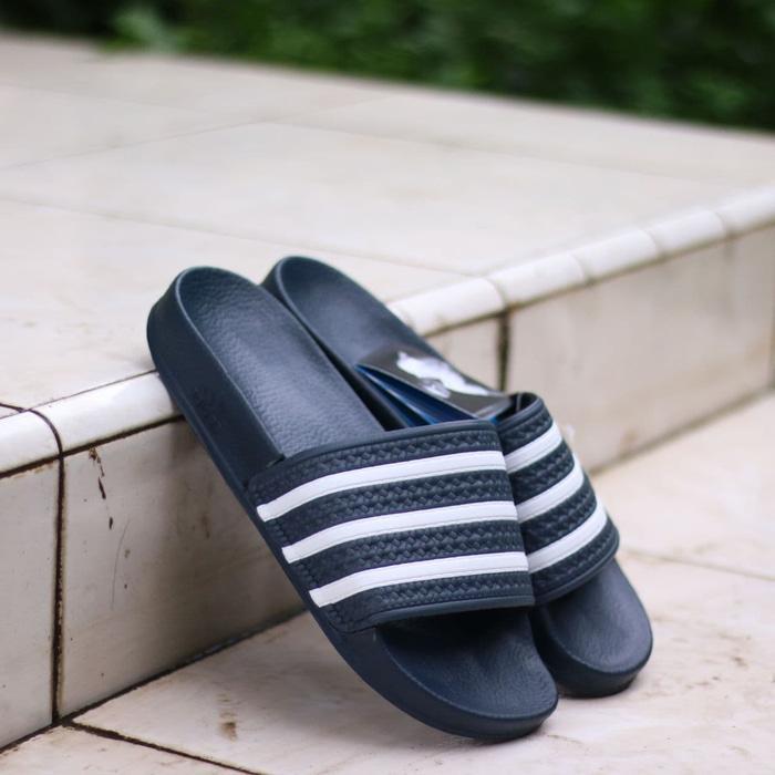 Sandal Original Adidas Slide Adilete Indigo Navy White