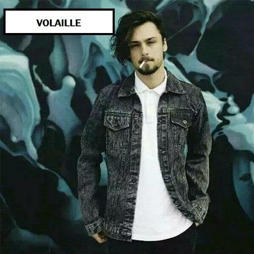 VOLAILLE - jaket jeans denim pria acidwash black kualitas premium HOT ITEM