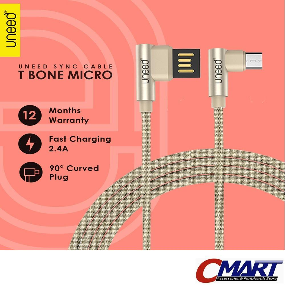 Uneed Kabel micro USB T-Bone Data Charger Cable microUSB EMAS (GOLD) - UND-UCB18M-GL