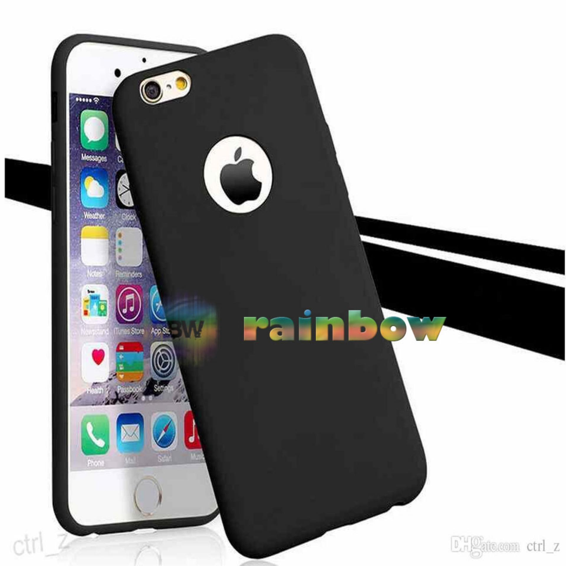 Lize Apple Iphone6 / Iphone 6 / Iphone 6G / Iphone 6S Ori Ukuran 4.7 inch / Softshell / Jelly Case / Soft Case / Soft Back Case / Silicone / Silicon / Silikon / Case Iphone / Case HP / Casing Handphone Iphone 6 - Hitam
