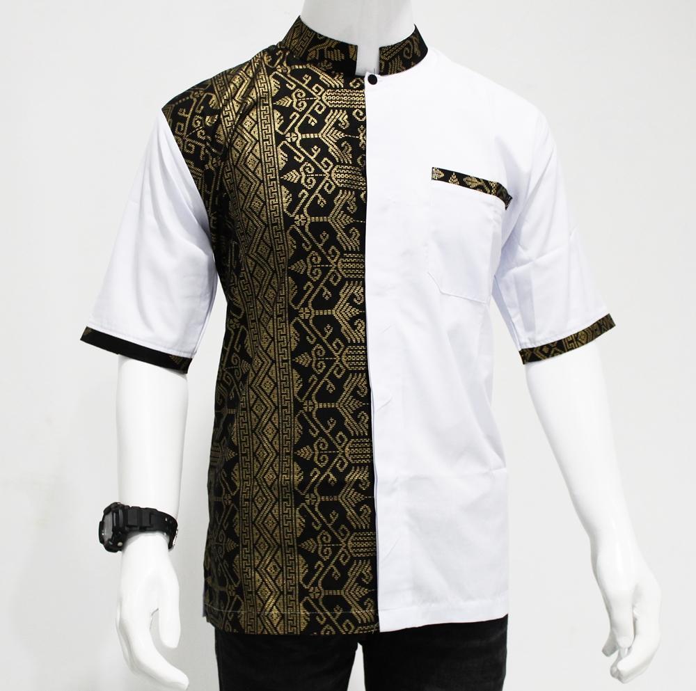 Fitur Grosiryogya Baju Koko Batik Kombinasi Motif Bk5003 Hitam Dan Modern 11 Kemeja Model Pria Hem Exclusive