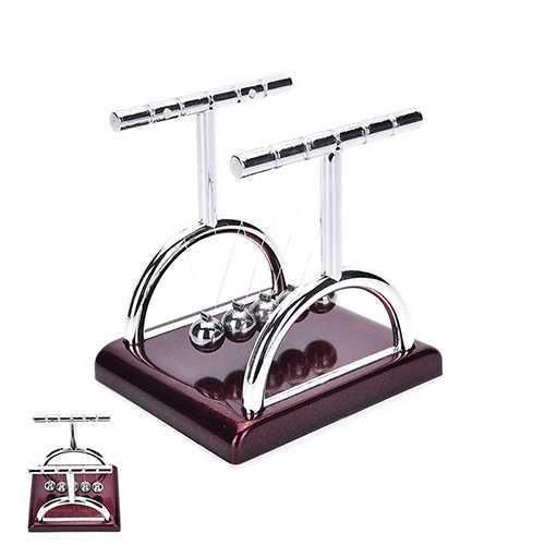 ... Pajangan Meja Pendulum Newton Model T Coklat L - 3 ...