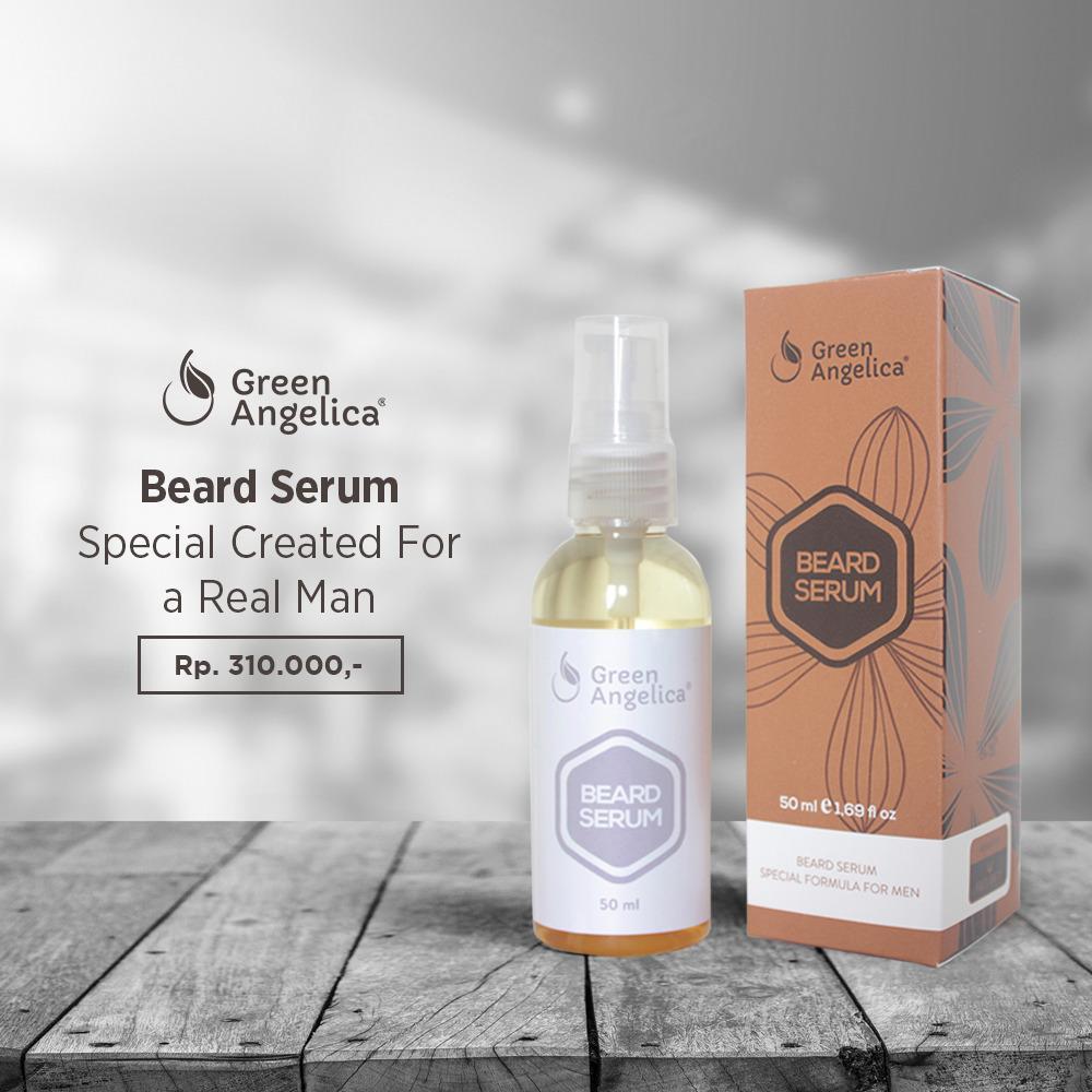 Minyak Kemiri Beard Oil Miracle Penumbuh Jenggot Kumis Jambang Maine Beards Serum Minoxidil Brewok Alis Green Angelica Super Cepat