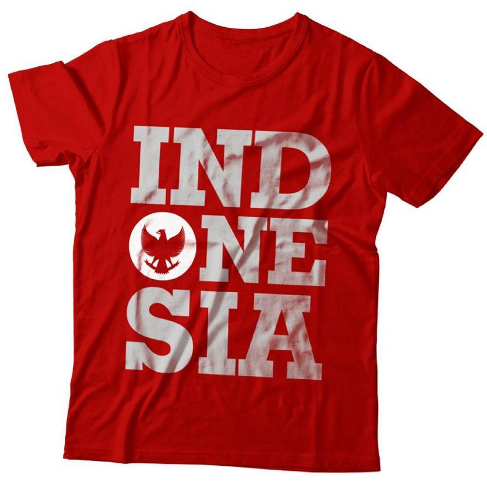 Fitur Kaos Jersey Timnas Merah Putih Garuda Indonesia Dan Harga Anak Baju Distro Ot Lambang Gambar One Nation